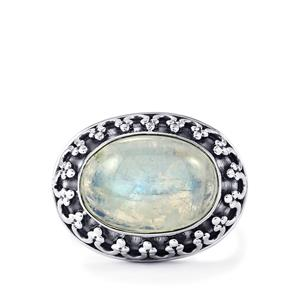 Rainbow Moonstone Ring  in Sterling Silver 6cts