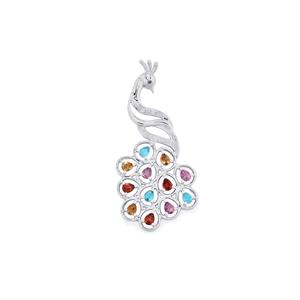 2ct Kaleidoscope Gemstones Sterling Silver Pendant