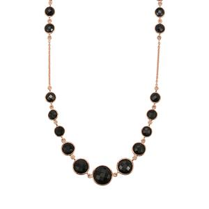 Black Onyx Necklace in Rose Gold Vermeil 45.75cts