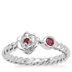 Rajasthan Garnet Ring in Sterling Silver 0.15ct