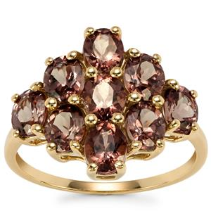 Tsivory Colour Change Garnet Ring in 9K Gold 3.61cts
