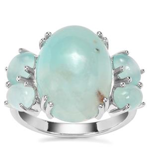 9.62ct Aquaprase™ Sterling Silver Ring