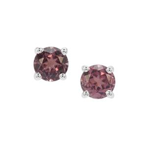Burmese Pink Spinel Earrings in Sterling Silver 0.72ct