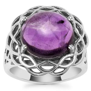 Kenyan Amethyst Ring in Sterling Silver 6.16cts