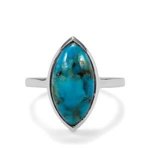 Bonita Blue Turquoise Ring in Sterling Silver 6.15cts