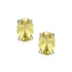 1.57ct Yellow Apatite Sterling Silver Earrings