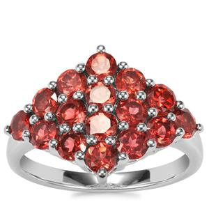 Rajasthan Garnet Ring in Sterling Silver 2.81cts