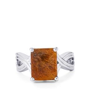 4.51ct Bahia Rutilite Sterling Silver Ring