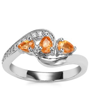 Tulelei Ring with White Zircon in Sterling Silver 0.91ct