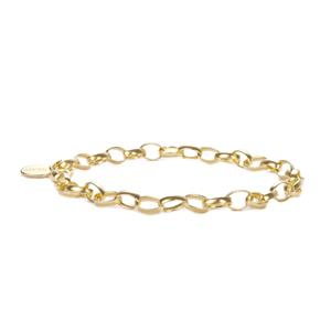 Gold Tone Sterling Silver Milano Charms Bracelet 6.30g