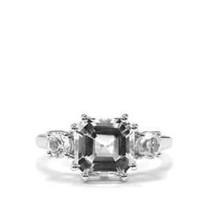 The Regal Asscher Cut White Topaz Sterling Silver Ring 5.05ct