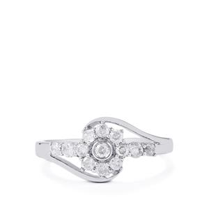 1/2ct Diamond 10K White Gold Ring