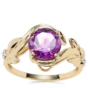 Moroccan Amethyst Ring in 9K Gold 1.76cts