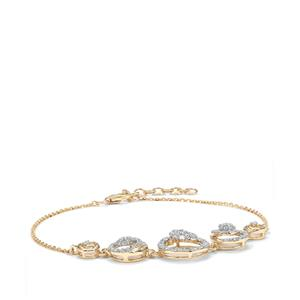 Argyle Diamond Bracelet in 10k Gold 1ct