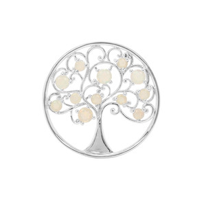 1.28ct Ethiopian Opal Sterling Silver Tree of Life Pendant
