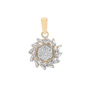 Diamond Pendant in 18K Gold 0.26ct