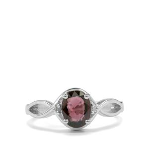 Burmese Multi-Colour Spinel & Diamond Sterling Silver Ring ATGW 1.34cts