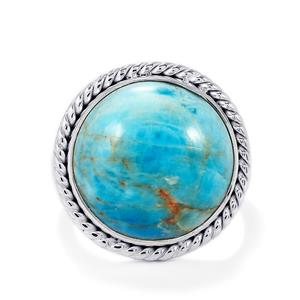 Fort-Dauphin Apatite Ring in Sterling Silver 17cts