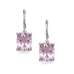 Rose De France Amethyst Earrings in Sterling Silver 10.70cts