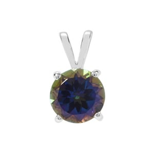 Mystic Blue Topaz Pendant in Sterling Silver 4.76cts