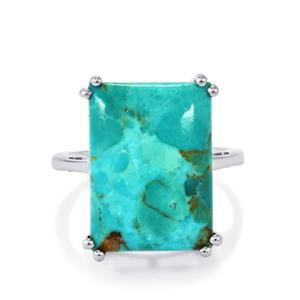 Cochise Turquoise Ring  in Sterling Silver 12.25cts