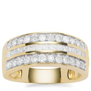 Diamond Ring in 9K Gold 1ct