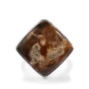 15.61ct Wild Horse Jasper Sterling Silver Aryonna Ring