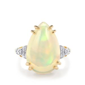 Ethiopian Opal & Diamond 18K Gold Lorique Ring MTGW 7.90cts