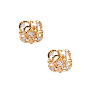 Diamond Earrings in 10k Gold