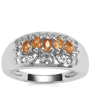 Tulelei Ring with Diamond in Sterling Silver 0.71ct