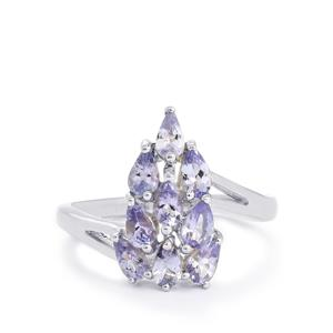1.68ct Tanzanite Sterling Silver Ring