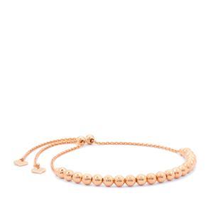 """10""""Rose Midas Altro Slider Ball Bracelet 4.65g"""