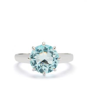 Sky Blue Topaz Ring in Sterling Silver 4.41cts