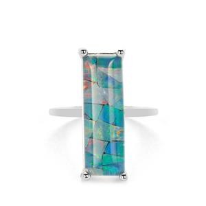 Mosaic Opal (7x20mm) Ring in Sterling Silver