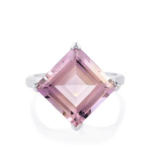 6.25ct Rose De France Amethyst Sterling Silver Ring