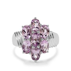 2.81ct Rose du Maroc Amethyst Sterling Silver Ring
