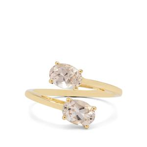 Champagne Danburite Ring in 9K Gold 1.55cts