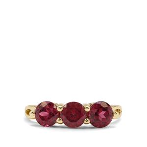 2.48ct Malawi Garnet 9K Gold Ring