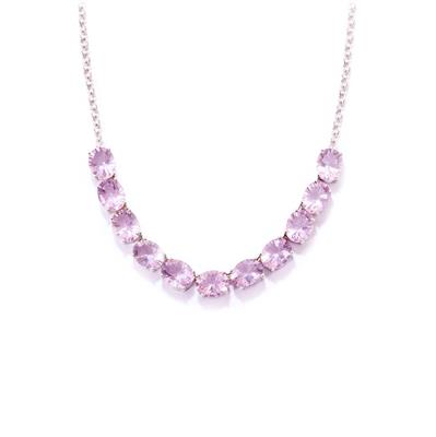 PURPLE FLUORITE NECKLACE IN STERLING SILVER 32.43CTS