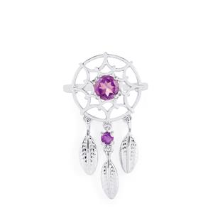 0.88ct Ametista Amethyst Sterling Silver Ring