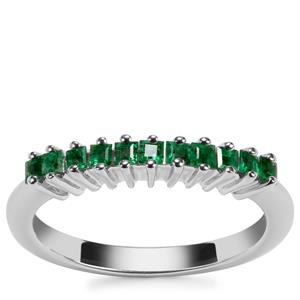 Luhlaza Emerald Ring in Sterling Silver 0.35ct