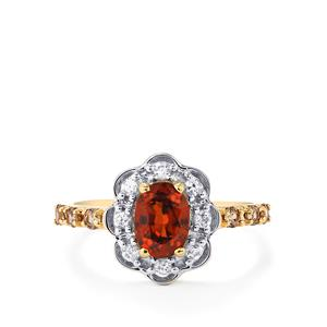 Cognac Zircon, Bekily Colour Change Garnet & White Zircon 10K Gold Ring ATGW 1.85cts