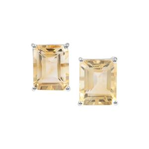 Diamantina Citrine Earrings in Sterling Silver 6.36cts