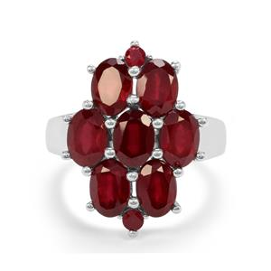 8.37ct Malagasy Ruby Sterling Silver Ring (F)