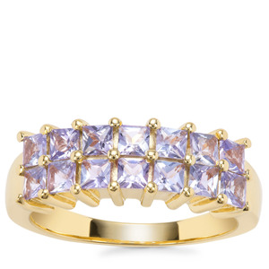 Tanzanite Ring in Gold Plated Sterling Silver 1.34cts
