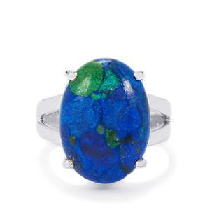 9.85ct Azure Malachite Sterling Silver Ring