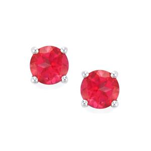 1.96ct Mystic Pink Topaz Sterling Silver Earrings