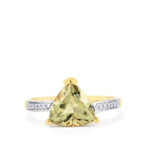Csarite® Ring with Diamond in 18k Gold 2.93cts