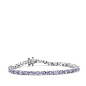 6.75ct Tanzanite Sterling Silver Bracelet