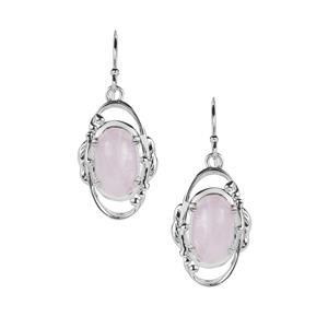 Nuristan Kunzite Earrings in Sterling Silver 8.92cts